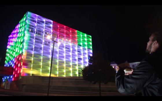 Puzzle Facade Giant Rubik's Cube
