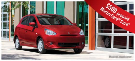 Year-end Car Deals 2014 Mirage ES