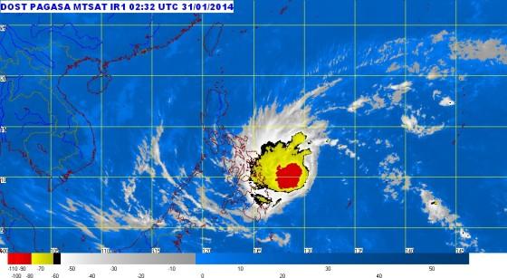Typhoon Basyang satellite image
