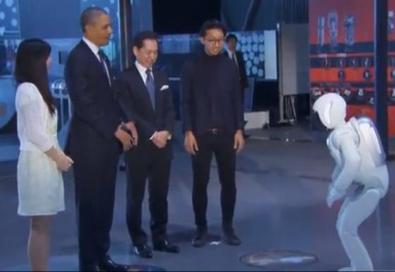 Barack Obama meets Asimo