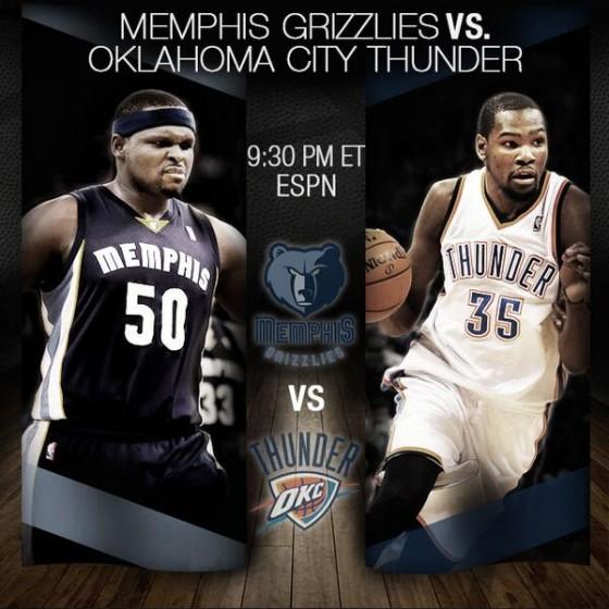 NBA Playoffs 2014: OKC Thunder vs Memphis Grizzlies