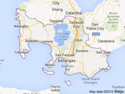 Batangas earthquake latest philippines quake at magnitude 57 june batangas earthquake batangas earthquake 2014 image credit google maps gumiabroncs Choice Image