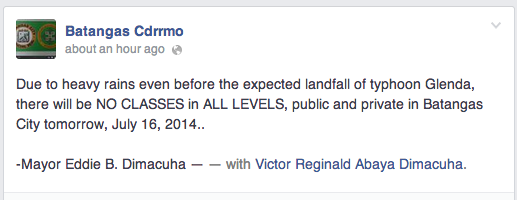 suspension of classes