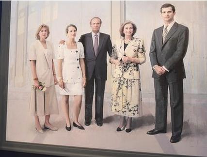 The Family of Juan Carlos I Portrait