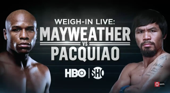 Pacquiao vs Mayweather weigh-in