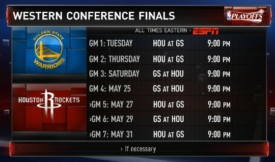 Warriors vs Rockets 2015